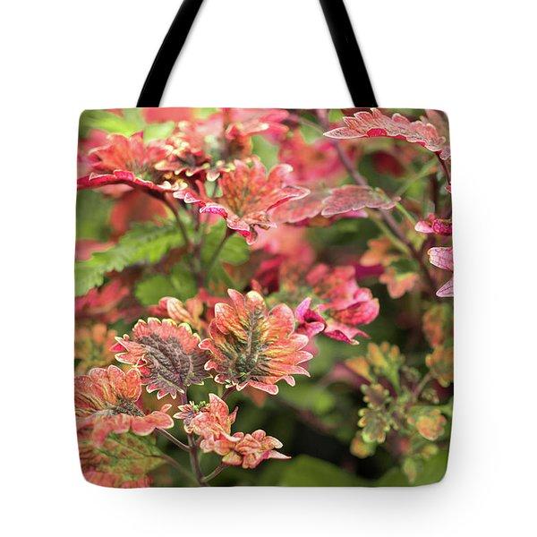 Pink Fine Flora Tote Bag