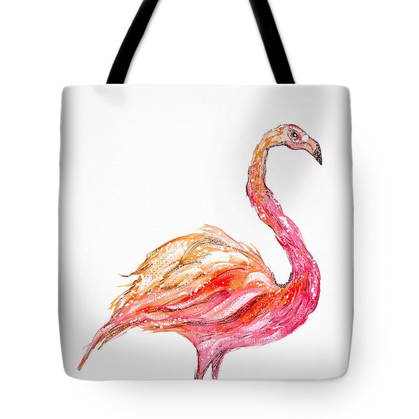 Pink Flamingo Bird Tote Bag