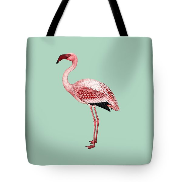 Pink Flamingo Isolated Tote Bag