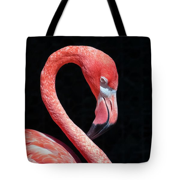 Tote Bag featuring the photograph Pink Flamingo by Robert Bellomy