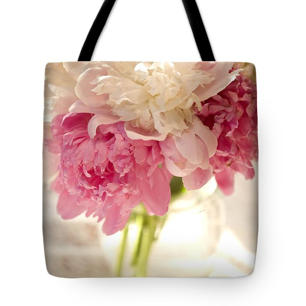 Pink Floal Tote Bag by George Robinson