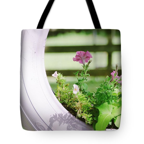 Tote Bag featuring the photograph Pink Floral 2 by Andrea Anderegg