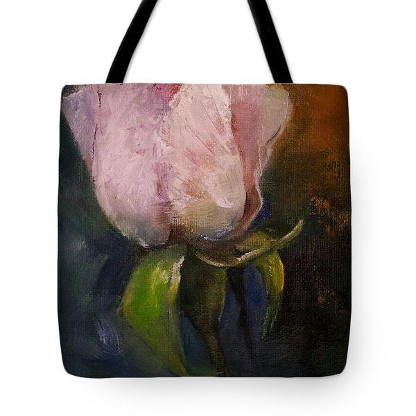 Pink Floral Bud Tote Bag