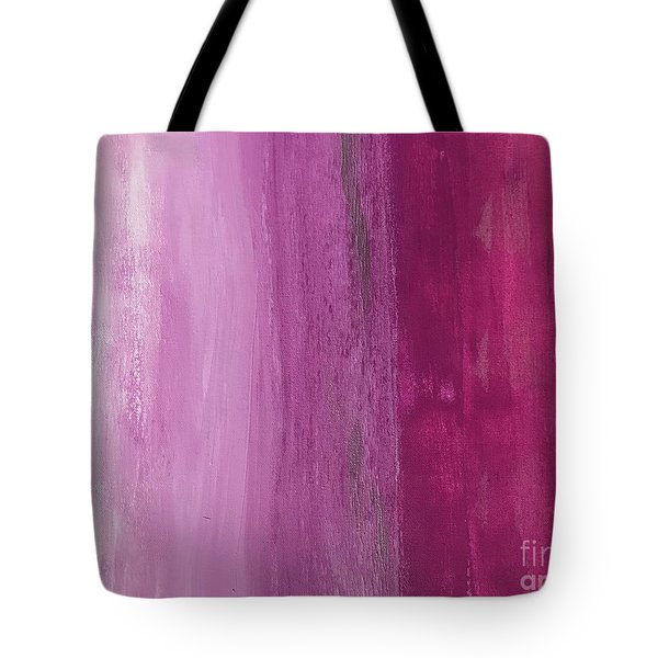 Tote Bag featuring the painting Pink Flow by Kim Nelson