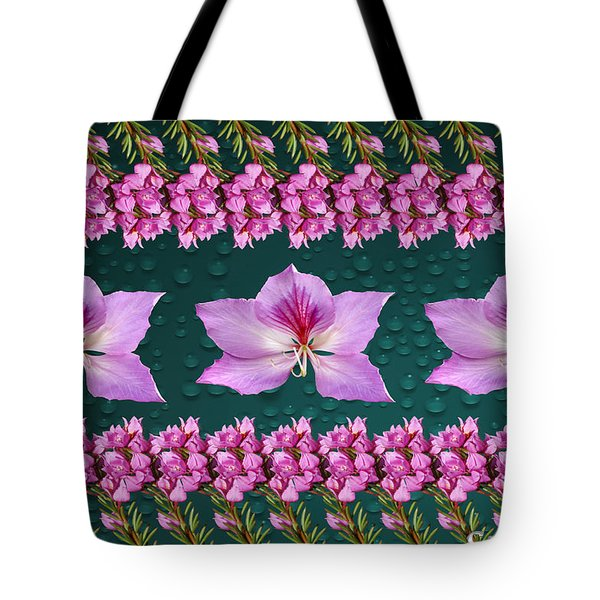 Pink Flower Arrangement Tote Bag