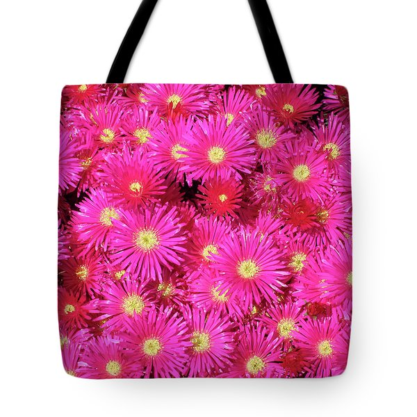 Pink Flower Explosion Tote Bag by Mark Barclay
