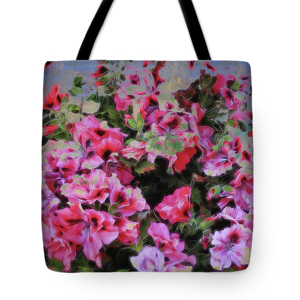 Tote Bag featuring the photograph Pink Flower Fantasy by Ann Powell