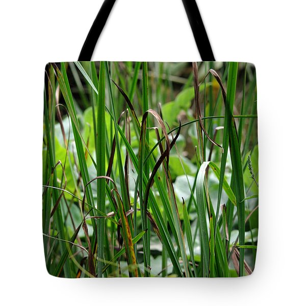 Pink Flower In The Grass Tote Bag