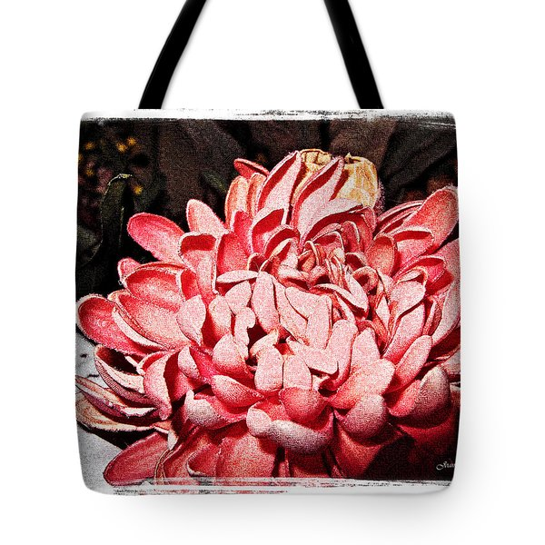 Tote Bag featuring the photograph Pink Flower by Joan  Minchak