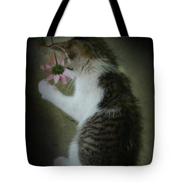 Pink Flower Tote Bag by Kim Henderson
