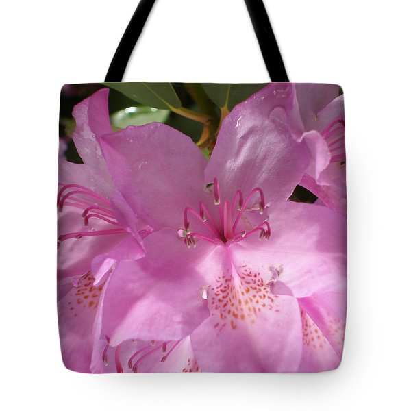 Pink Flower Tote Bag by Yelena Tylkina