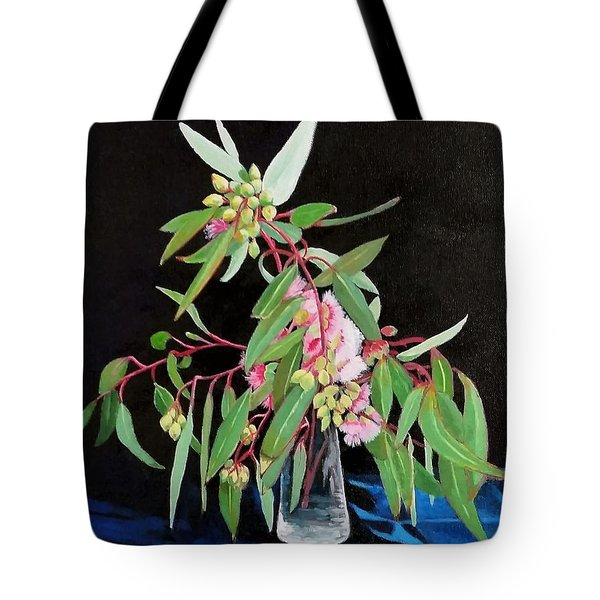 Pink Flowering Gum Tote Bag