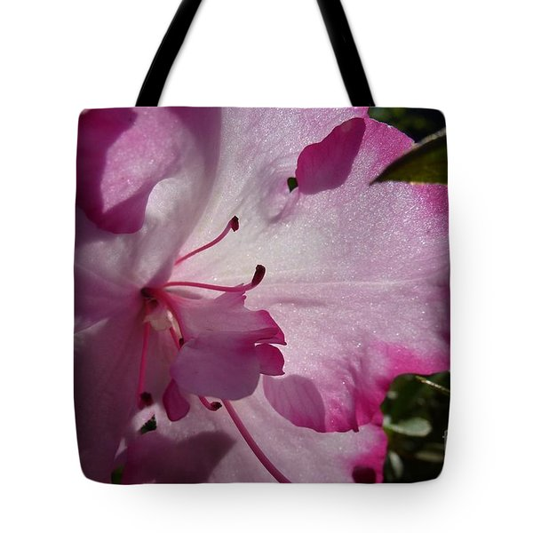 Pink Flowers 1 Tote Bag by Jean Bernard Roussilhe