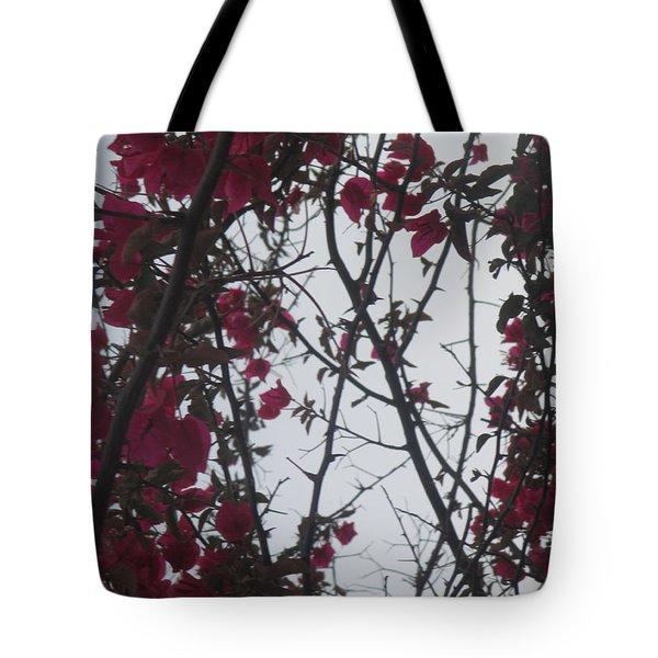 Pink Flowers Tote Bag by Anamarija Marinovic