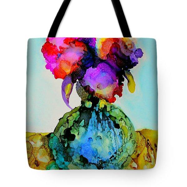 Pink Flowers In A Vase Tote Bag by Priti Lathia