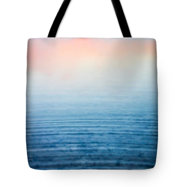 Pink Fog At Sunrise Tote Bag by Shelby  Young