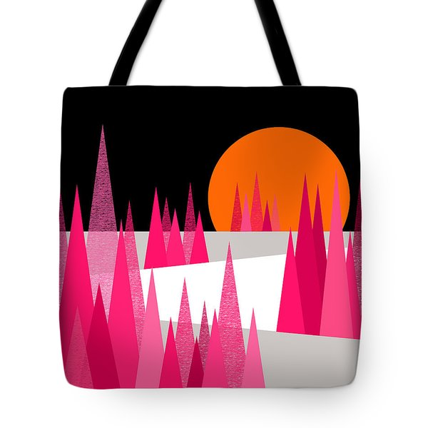 Pink Forest Tote Bag by Val Arie