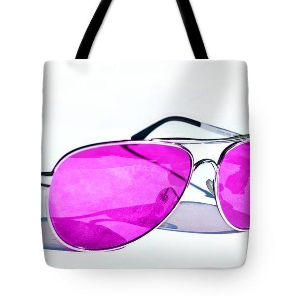 Pink Glasses Tote Bag