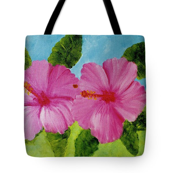 Pink Hawaiian Hibiscus Flower #23 Tote Bag by Donald k Hall