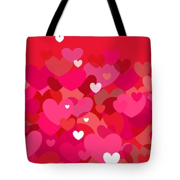 Pink Heart Abstract Tote Bag