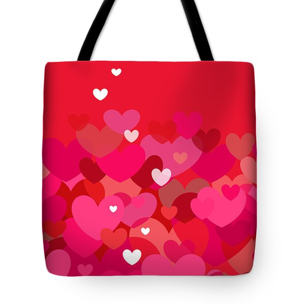 Pink Heart Abstract Tote Bag by Val Arie
