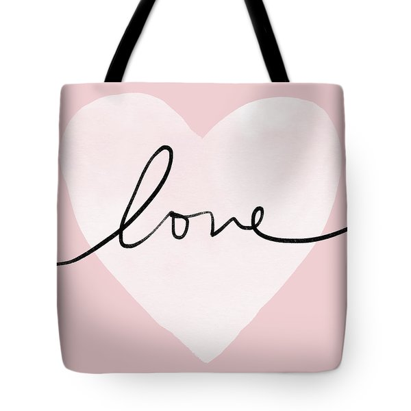 Pink Heart Love- Art By Linda Woods Tote Bag