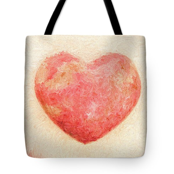Tote Bag featuring the photograph Pink Heart Soft And Painterly by Carol Leigh