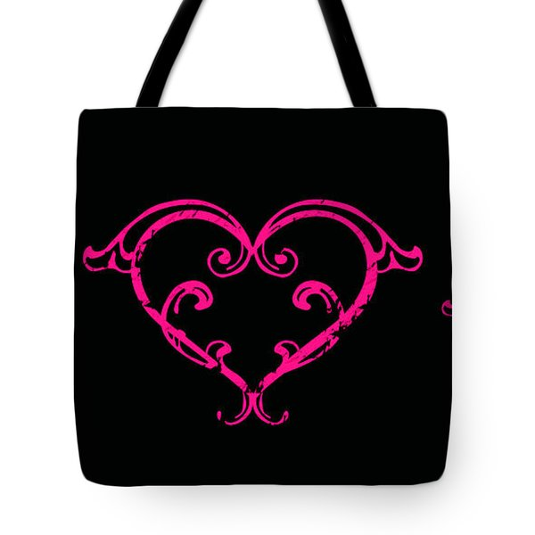 Pink Hearts  Tote Bag by Swank Photography