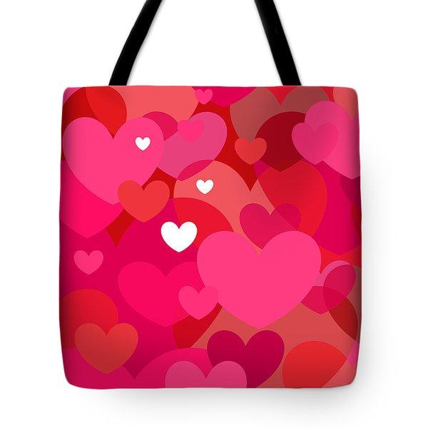 Pink Hearts Tote Bag