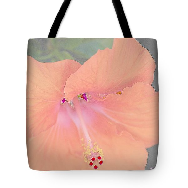 Tote Bag featuring the photograph Pink Heavenly Hibiscus by Donna Bentley