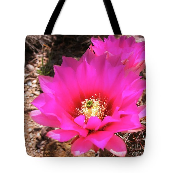 Pink Hedgehog Flower Tote Bag
