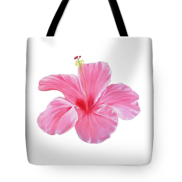 Tote Bag featuring the painting Pink Hibiscus by Elizabeth Lock