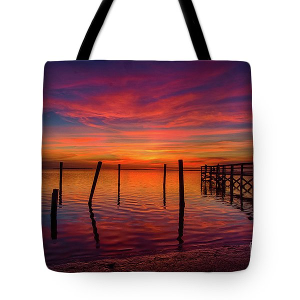 Pink Horizon Tote Bag