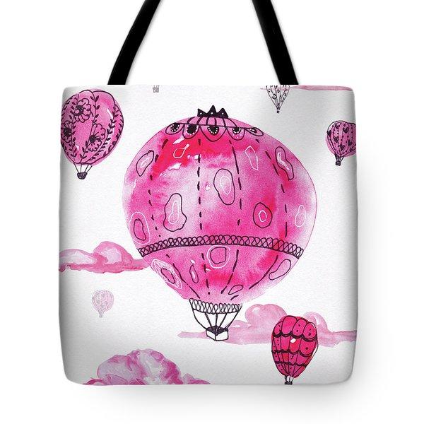 Pink Hot Air Baloons Tote Bag