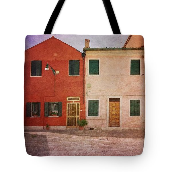 Tote Bag featuring the photograph Pink Houses by Anne Kotan
