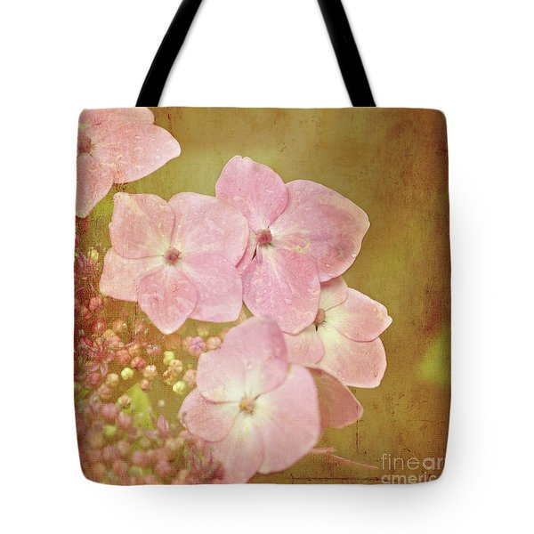 Tote Bag featuring the photograph Pink Hydrangeas by Lyn Randle