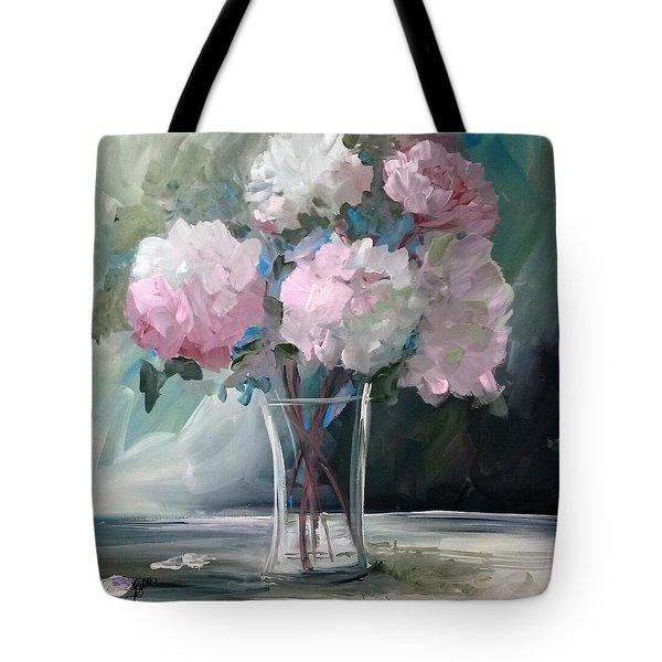 Pink Peonies Tote Bag by Terri Einer