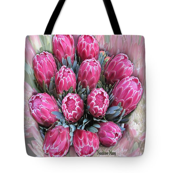 Pink Ice Tote Bag by Nadine May