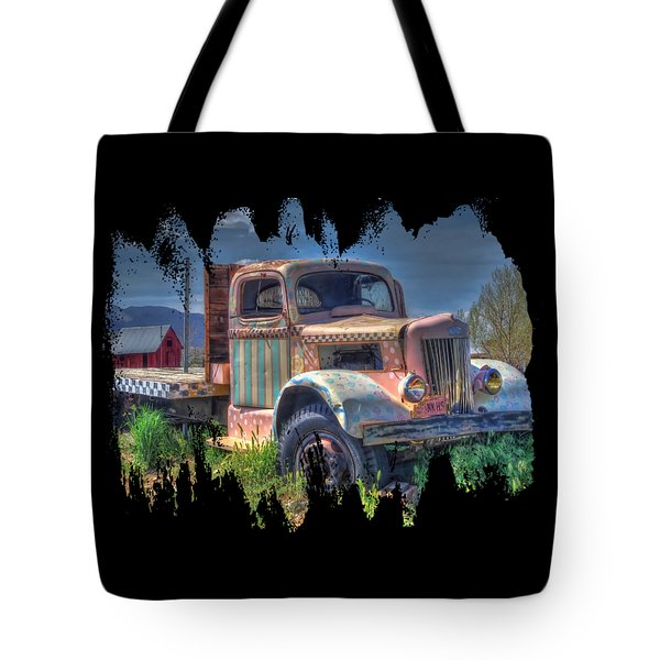 Classic Flatbed Truck In Pink Tote Bag