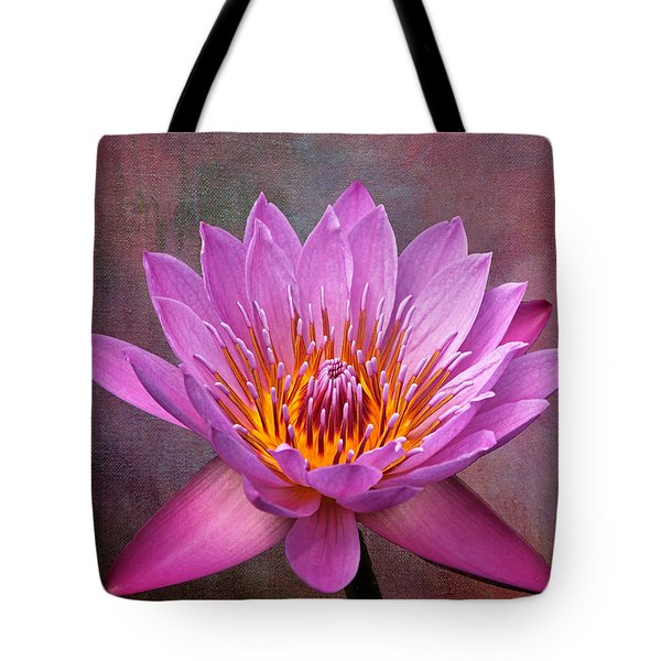Tote Bag featuring the photograph Pink Lady by Judy Vincent