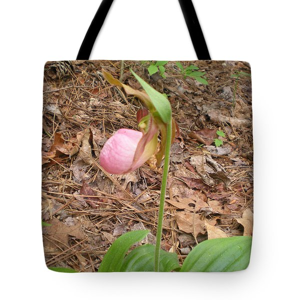 Tote Bag featuring the photograph Pink Lady's-slipper by Linda Geiger