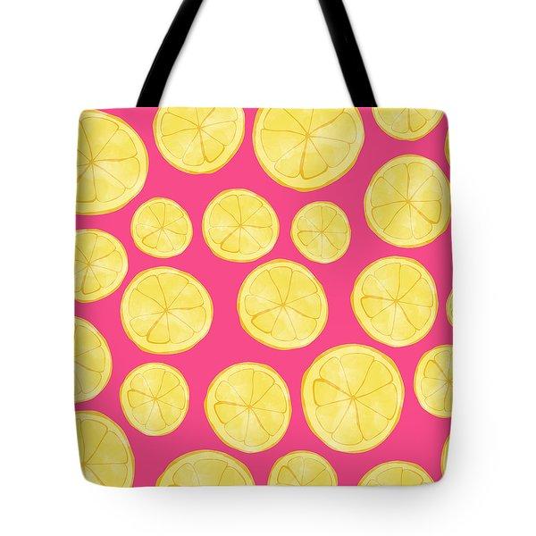 Pink Lemonade Tote Bag by Allyson Johnson