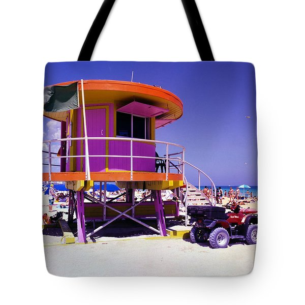 Pink Lifeguard Stand Tote Bag