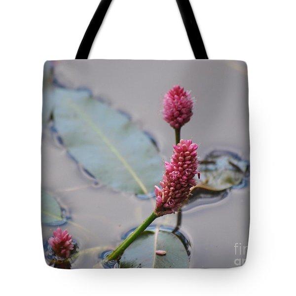 Pink Lily Pad Tote Bag