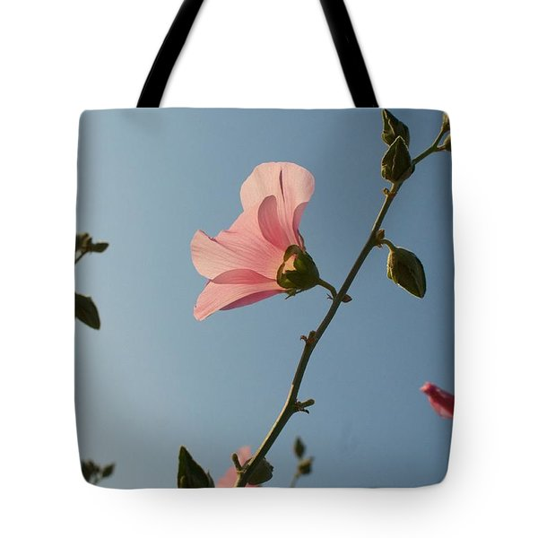 Tote Bag featuring the photograph Pink by Louise Fahy