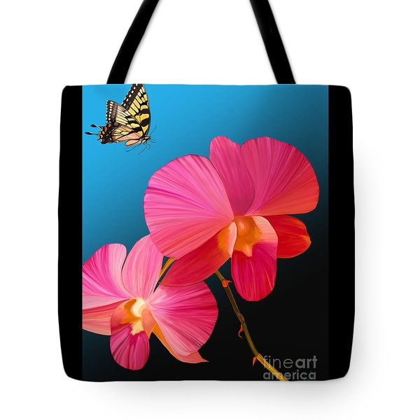 Pink Lux Butterfly Tote Bag by Rand Herron