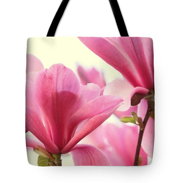 Pink Magnolias Tote Bag by Peggy Collins