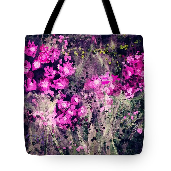 Pink Majestic Garden- Art By Linda Woods Tote Bag