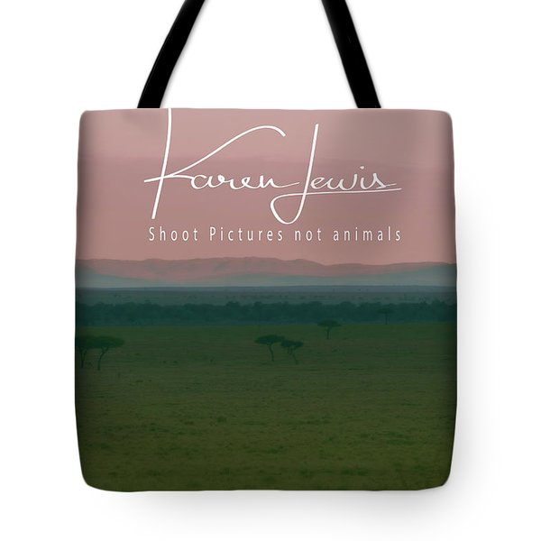 Tote Bag featuring the photograph Pink Mara Dawn by Karen Lewis
