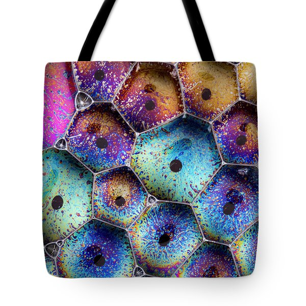 Tote Bag featuring the photograph Pink Master Bubble by Jean Noren
